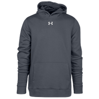Under Armour Team Hustle Fleece Hoodie - Boys' Grade School - Grey / Grey