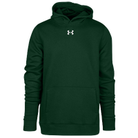 Under Armour Team Hustle Fleece Hoodie - Boys' Grade School - Dark Green / Dark Green