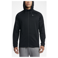 Nike Therma Full Zip Hoodie - Men's - All Black / Black