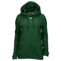 Under Armour Team Hustle Fleece Hoodie - Women's - Dark Green / Dark Green