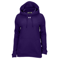 Under Armour Team Hustle Fleece Hoodie - Women's - Purple / Purple