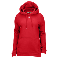 Under Armour Team Hustle Fleece Hoodie - Women's - Red / Red