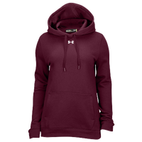 Under Armour Team Hustle Fleece Hoodie - Women's - Maroon / Maroon