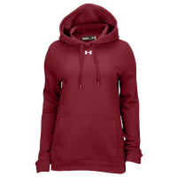 Under Armour Team Hustle Fleece Hoodie - Women's - Cardinal / Cardinal