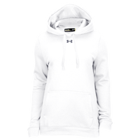 Under Armour Team Hustle Fleece Hoodie - Women's - All White / White