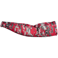 Badger Sportswear Digital Camo Arm Sleeves - Youth - Red / Grey
