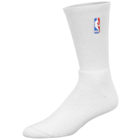 For Bare Feet NBA Logoman Crew Socks - Men's - NBA League Gear - All White / White