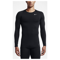 Nike Pro Cool Compression L/S Top - Men's - All Black / Black
