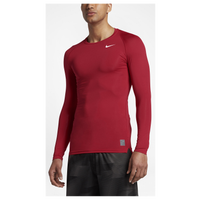 Nike Pro Cool Compression L/S Top - Men's - Red / Red
