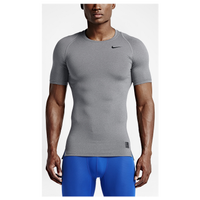 Nike Pro Cool Compression S/S Top - Men's - Grey / Grey
