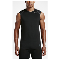 Nike Pro Cool Fitted Sleeveless Top - Men's - Black / Grey