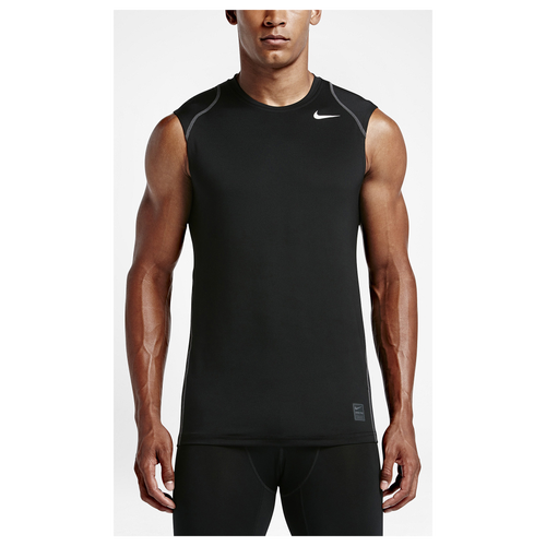 Nike pro cool fitted sleeveless top men 39 s training for Nike men s pro cool sleeveless shirt