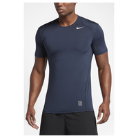 Nike Pro Cool Fitted S/S Top - Men's - Navy / Grey