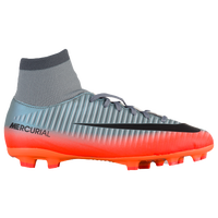 Nike Mercurial Victory VI Dynamic Fit FG - Boys' Grade School - Grey / Orange