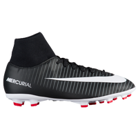 Nike Mercurial Victory VI Dynamic Fit FG - Boys' Grade School - Black / White