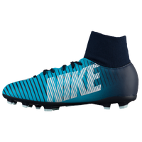 Nike Mercurial Victory VI Dynamic Fit FG - Boys' Grade School - Navy / Light Blue