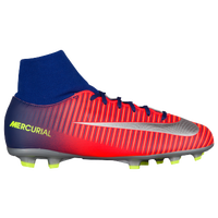 Nike Mercurial Victory VI Dynamic Fit FG - Boys' Grade School - Blue / Grey