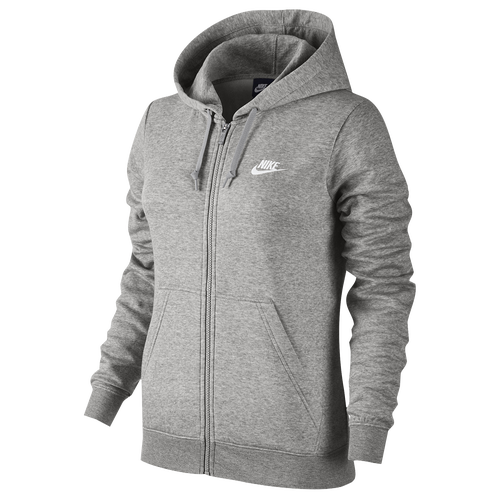 Nike NSW Full Zip Hoodie - Women's - Casual - Clothing - Dark Grey ...