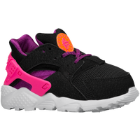Nike Huarache Run - Girls' Toddler - Black / Orange