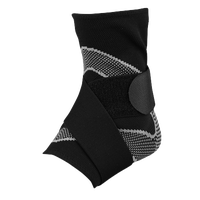 McDavid Ankle Sleeve with 4-way Elastic & Straps - Black / Grey