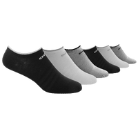 adidas Superlite 6 Pack No Show Socks - Women's - Black / White