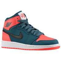Jordan AJ 1 High - Boys' Grade School - Navy / Red