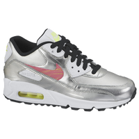 Nike Air Max 90  - Boys' Grade School - Silver / White