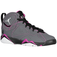 Jordan Retro 7 - Girls' Grade School - Grey / White