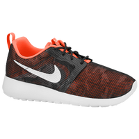 Nike Roshe Run Flight Weight - Boys' Grade School - Grey / Orange