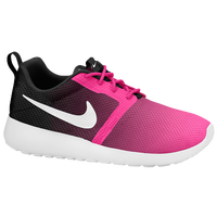 Nike Roshe Run Flight Weight - Girls' Grade School - Pink / Black