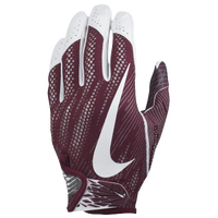 Nike Vapor Knit 2 Football Gloves - Men's - Maroon / White