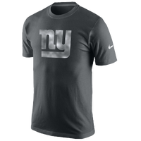 Nike NFL Platinum Logo T-Shirt - Men's - New York Giants - Grey / Silver