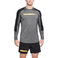 Under Armour Perpetual Fitted Long Sleeve Top - Men's - Black / Gold