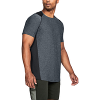 Under Armour MK1 Fitted Short Sleeve Tee - Men's - Black / Grey