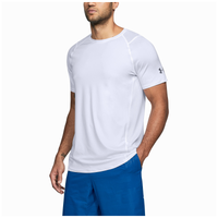 Under Armour MK1 Fitted Short Sleeve Tee - Men's - White / Grey