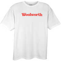 Woolworth Logo T-shirt - Men's - White / Red