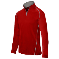 Mizuno Compression 1/4 Zip L/S Batting Jacket - Men's - Red / Grey