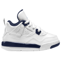 Jordan Retro 4 - Boys' Toddler - White / Blue