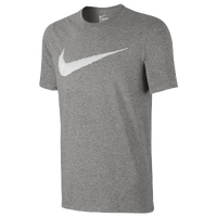 Nike Hangtag Swoosh S/S T-Shirt - Men's - Grey / White