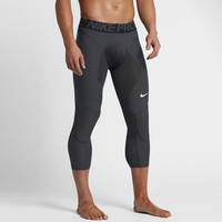 Nike Pro Combat Tight Slider - Men's - Grey / Black