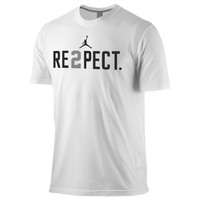 Jordan Re2pect T-Shirt - Men's - White / Black
