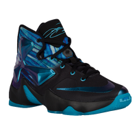 Nike LeBron XIII - Boys' Grade School - Black / Light Blue