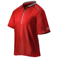 Mizuno Compression 1/4 Zip S/S Batting Jacket - Men's - Red / Grey