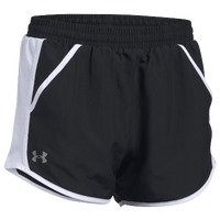 Under Armour Team Fly By Shorts - Women's - Black / White