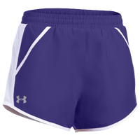 Under Armour Team Fly By Shorts - Women's - Purple / Silver