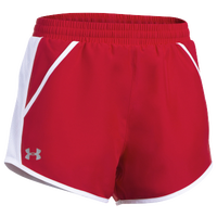 Under Armour Team Fly By Shorts - Women's - Red / White