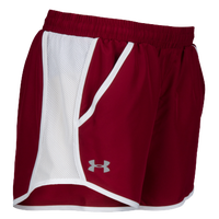 Under Armour Team Fly By Shorts - Women's - Cardinal / White