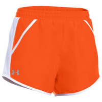 Under Armour Team Fly By Shorts - Women's - Orange / Silver