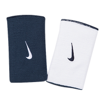 Nike Dri-FIT Home & Away  Doublewide Wristbands - Men's - Navy / White