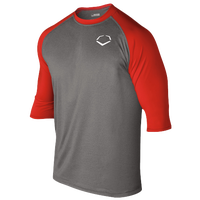 Evoshield 3/4 Team Raglan Shirt - Men's - Grey / Red